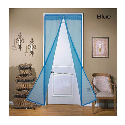 Image of Magnetic Mesh Insect Screen Door - Blue - Gadgets