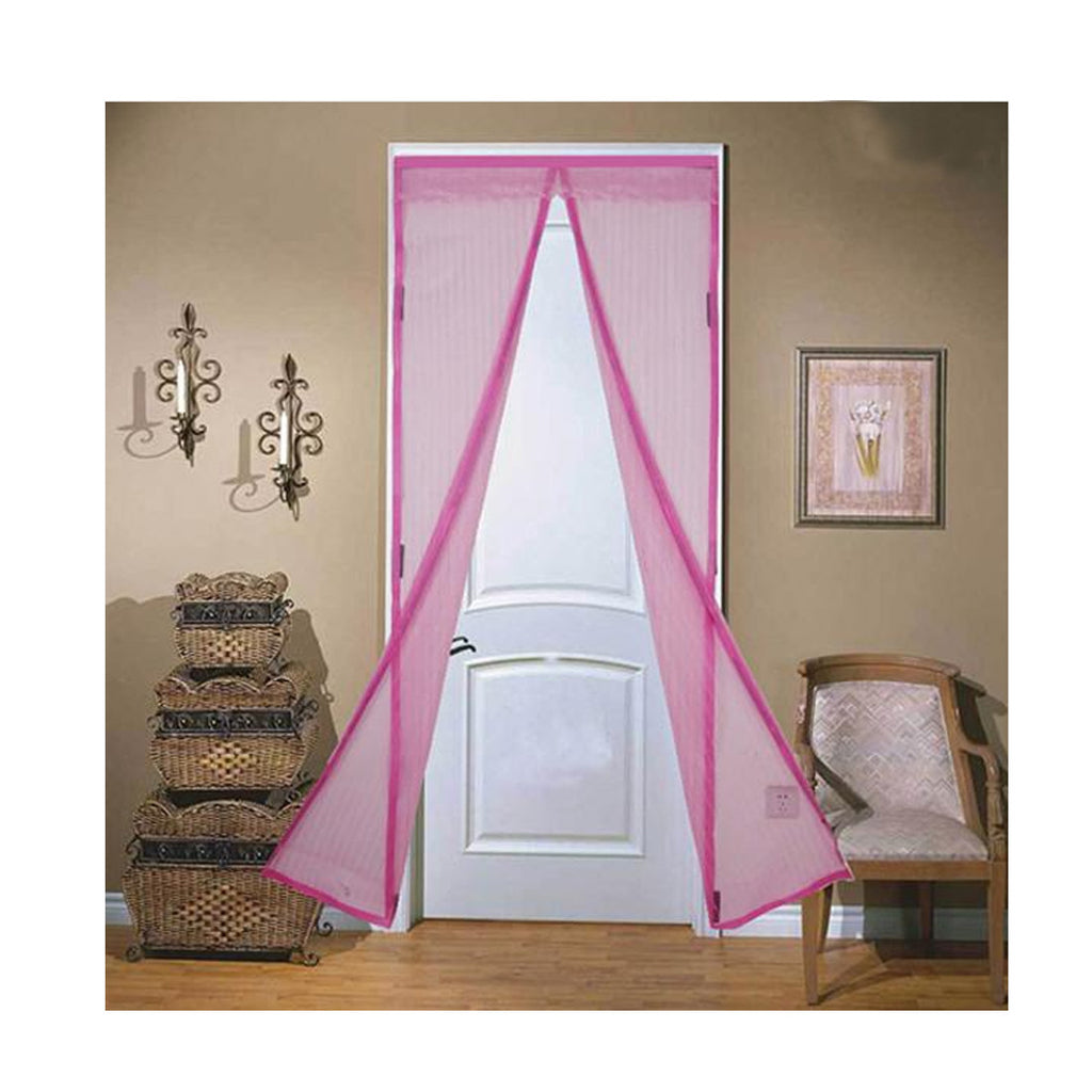 Magnetic Mesh Insect Screen Door - Pink - Gadgets