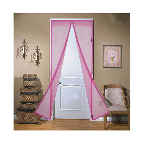 Image of Magnetic Mesh Insect Screen Door - Pink - Gadgets