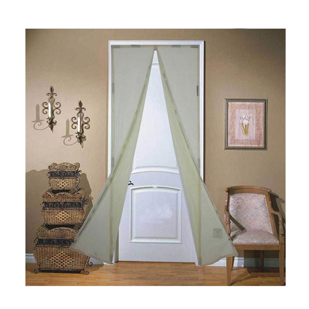 Magnetic Mesh Insect Screen Door - White - Gadgets