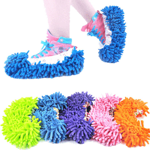Image of Microfiber Cleaning Mop Slippers - Gadgets