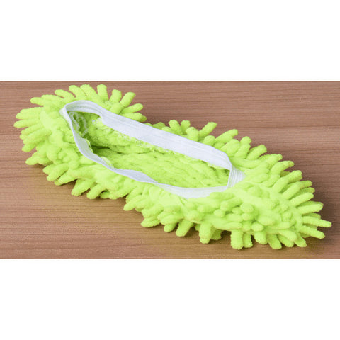 Image of Microfiber Cleaning Mop Slippers - Green - Gadgets