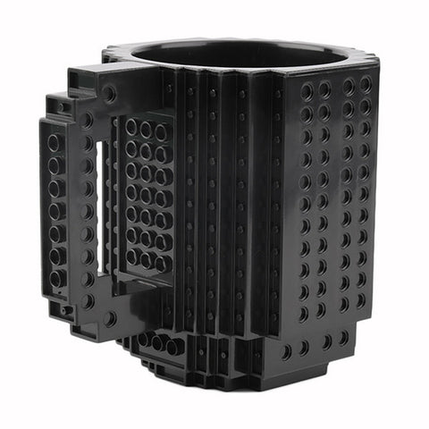 Image of The Compatible Build-On Brick Mug - Black - Gadgets