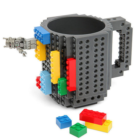 The Compatible Build-On Brick Mug - Grey - Gadgets
