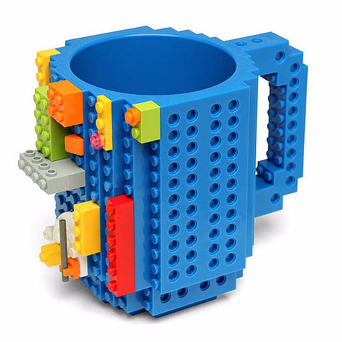 Image of The Compatible Build-On Brick Mug - Blue - Gadgets