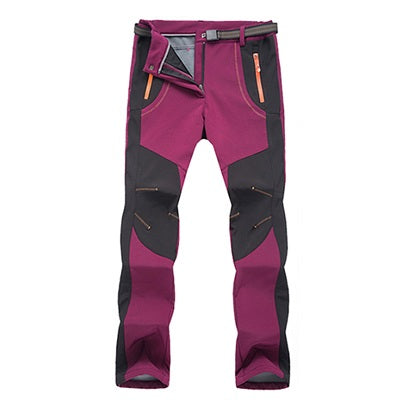 Image of Winter Men Women Pants de randonnée - Femmes Maroon / Asian Taille S - Fashionmen