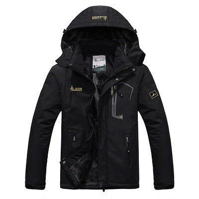 Mens Winter Waterproof Jacket - Black / L - Fashionmen