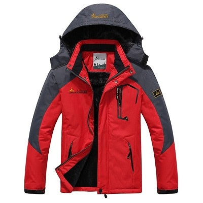 Image of Mens Winter Waterproof Jacket - Red / L - Fashionmen
