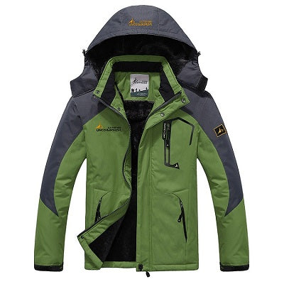 Mens Winter Waterproof Jacket - Grass Green / L - Fashionmen