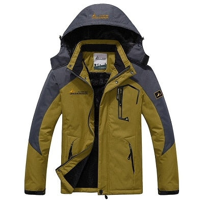 Mens Winter Waterproof Jacket - Yellow / L - Fashionmen