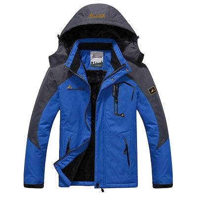 Mens Winter Waterproof Jacket - Blue / L - Fashionmen