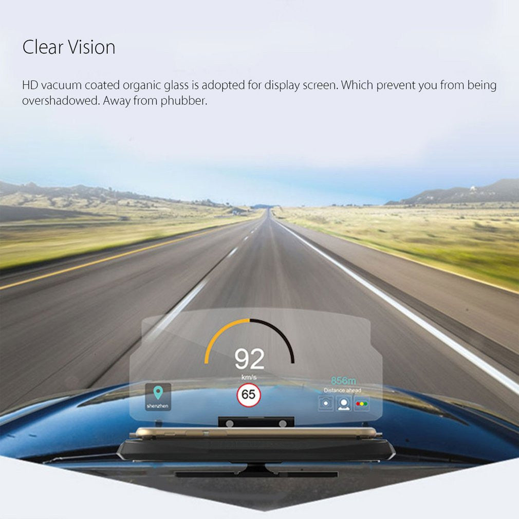 Universal Head Head Display - Support pour support de navigation GPS Hd Reflect Hud - Gadgets