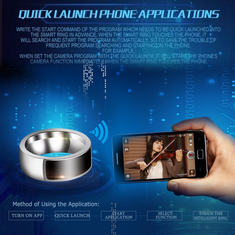 Smart Ring - Multifunctional Wearable Devices - Cellphone