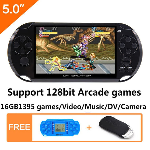 Handheld Game Console 5.0 inch - Video Game Console with Retro Games built-in