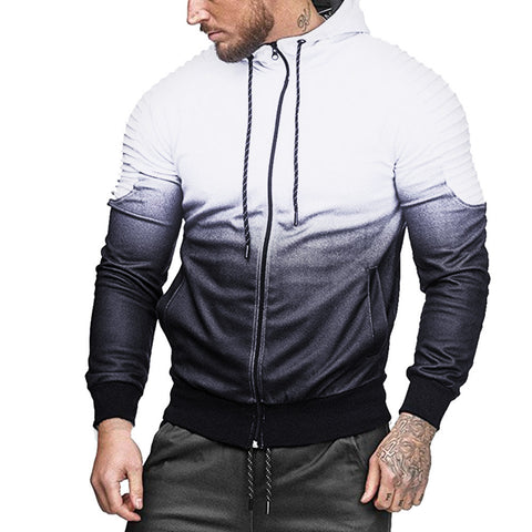 Mens Autumn Winter Long Sleeve Blouse - White / L - Fashionmen