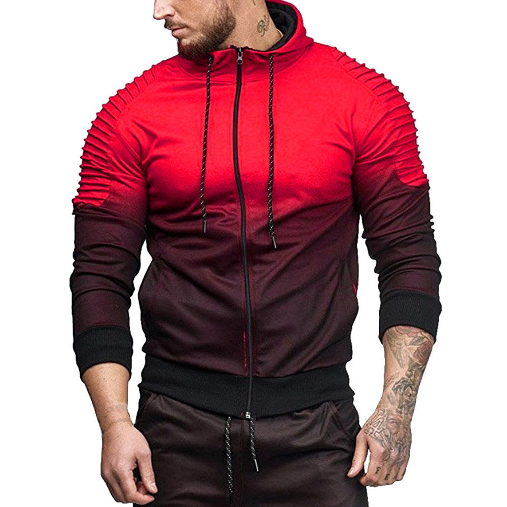 Mens Autumn Winter Long Sleeve Blouse - Red / L - Fashionmen