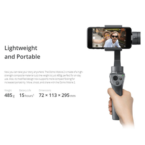DJI OSMO MOBILE 2 3-Axis - Shipped in Canada - Free shipping