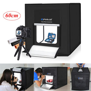 24 60Cm 5500K Led Light Studio Photography Box Photo Mini Backdrop Tent Cube - Gadgets