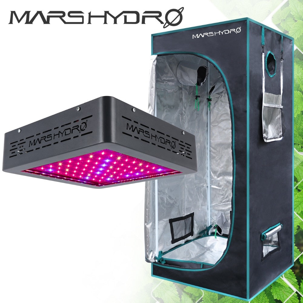 Marsii 400 Led Grow Light Full Spectrum +1680D 70*70*160Cm Hydroponics Indoor Grow Tent - Hydroponic