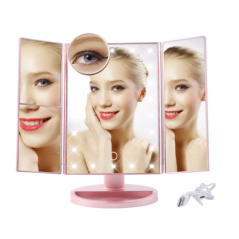 Image of 180° magnifying make up mirror