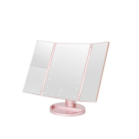 Image de Miroir de maquillage grossissant 180 ° - Or Rose - Fashionwomen
