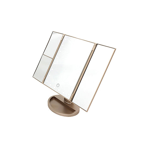 Image of 180° Magnifying Make Up Mirror - Gold - Fashionwomen