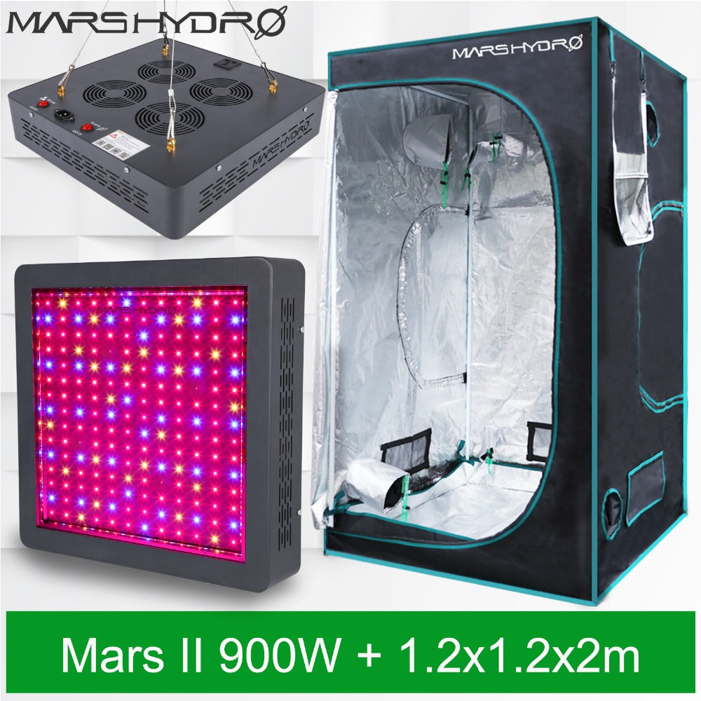Mars Hydro Marsii 900 Led Grow Light Veg Bloom And Grow Tent (120X120X200Cm) For Hydroponics Indoor Greenhouse - Hydroponic