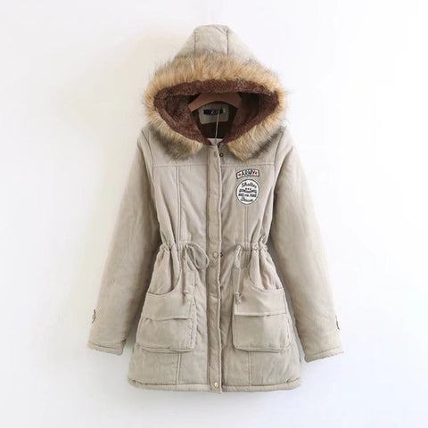Image of Best Parkas For Winter For Women - Khaki / Xxl - Fashionwomen