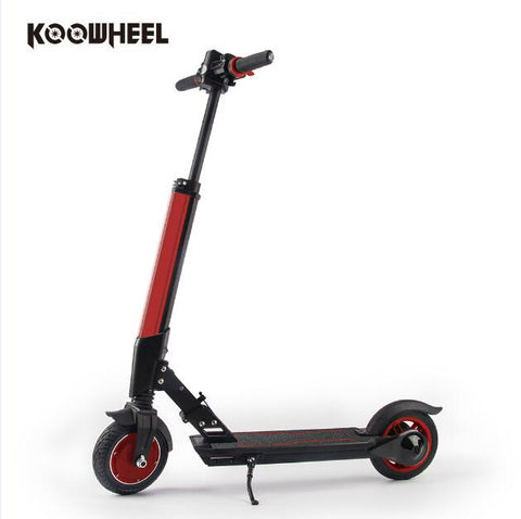 Image of Koowheel - Foldable Electric Scooter For Adults And Kids - Red - Scooter