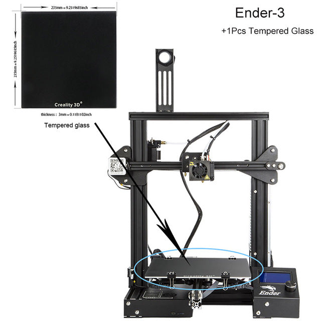 3D Printer Model - Chine / Ender-3S - Gadgets