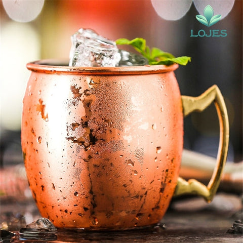 Image of Hammered Copper Plated Moscow Mule - A / 550Ml - Gadgets