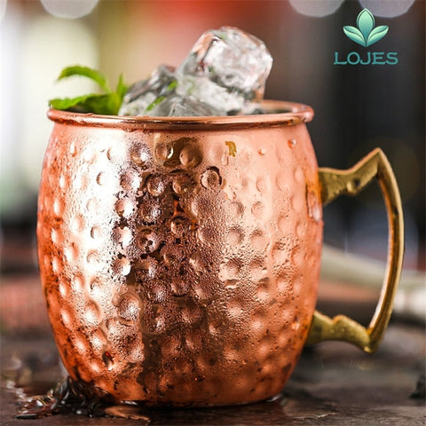 Image of Hammered Copper Plated Moscow Mule - B / 550Ml - Gadgets