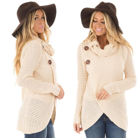 Image of Women Sweater Knitted - Long Sleeve - White / S - Fashionwomen