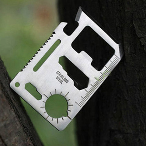 Image of Multifunctional Stainless Steel Army Knife Card - Gadgets