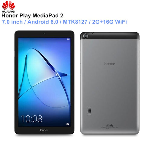 HUAWEI Honour Play Tablettes MediaPad 2 7.0 pouces Android 6.0 PC MTK8127 Quad Core Bluetooth Ordinateur portable 4.2 2GB 16GB WIFI