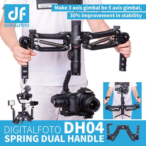 Image of 3 Axis Gimbal Spring Dual Handle Grip - Camera