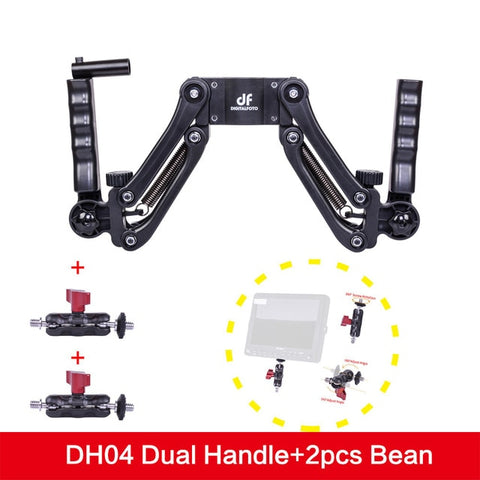 Image of 3 Axis Gimbal Spring Dual Handle Grip - Sliver - Camera