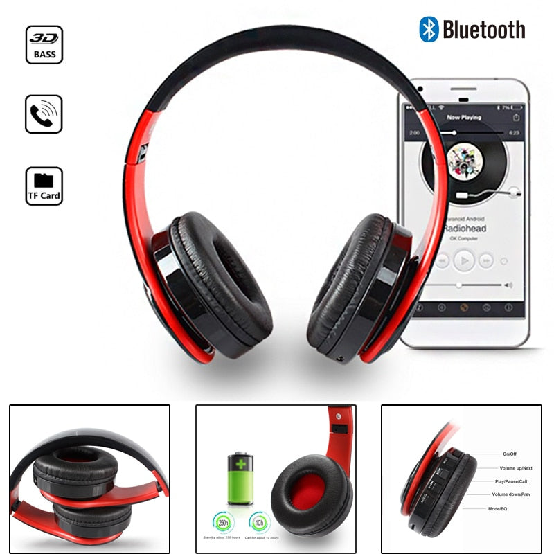 Wireless Headphones Bluetooth For Pc And Phone Music - Gadgets