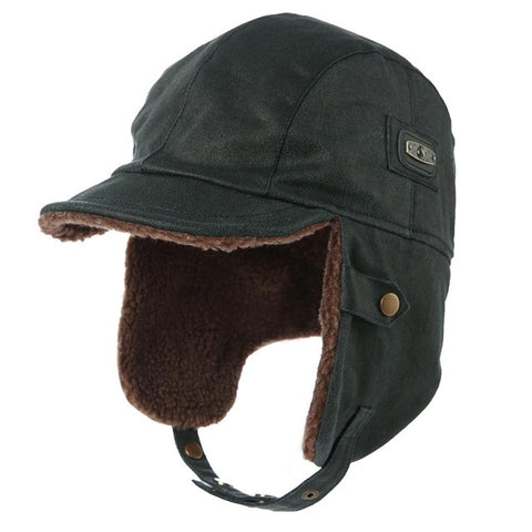 Image of Winter Unisex Bomber Hat - Waterproof Trapper Hunting Hat - Navy / M - Fashionmen