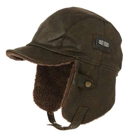 Image of Winter Unisex Bomber Hat - Waterproof Trapper Hunting Hat - Coffee / M - Fashionmen