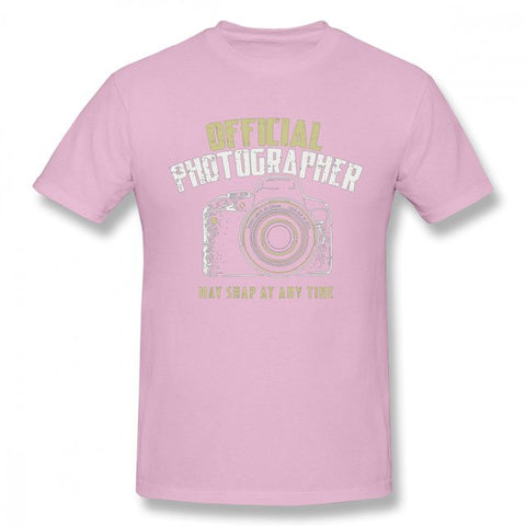 Pour Homme Photographe Reflex Camera T Shirt Retro - Rose / 5Xl - Appareil photo