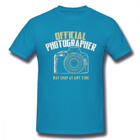 Pour Homme Photographe Reflex Camera T Shirt Retro - Royal Blue / M - Appareil photo