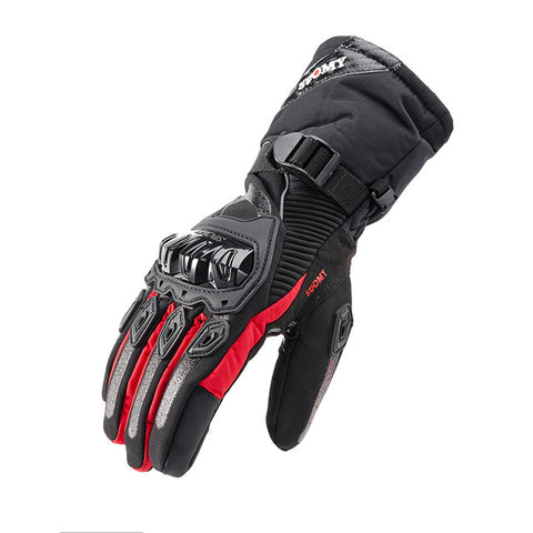 Image of Winter Motorcycle Gloves - Gloves For Men/women - Red / M - Fashionmen