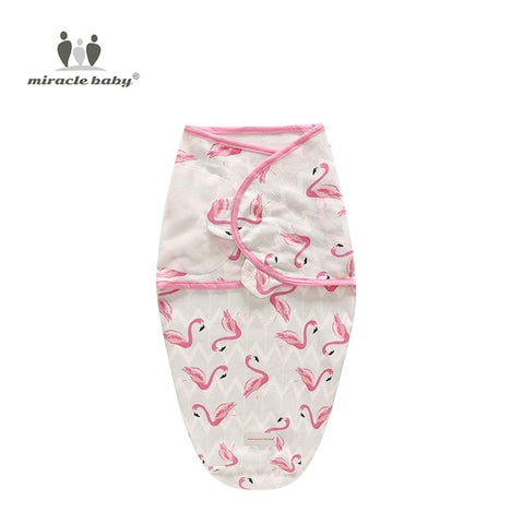 Image of Baby Swaddle Blanket - Flamingos S - Gadgets