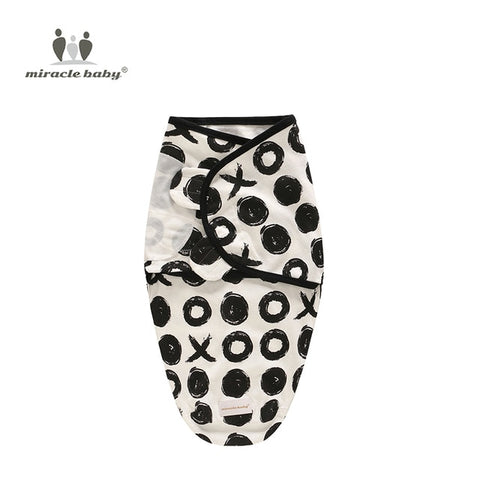 Image of Baby Swaddle Blanket - Black Circles S - Gadgets