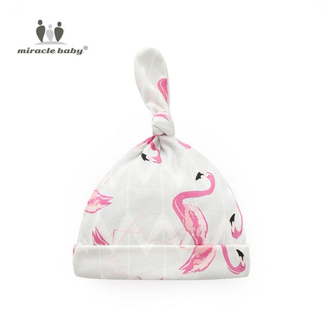 Image of Baby Swaddle Blanket - Flamingos Hat - Gadgets