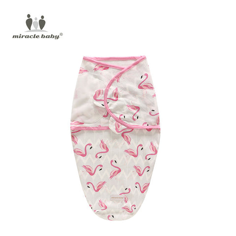 Image of Baby Swaddle Blanket - Flamingos L - Gadgets