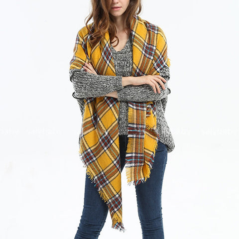 Image of Elegant Wool Cashmere Scarf