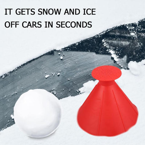 Image of Cone Shaped Ice Scraper - Gadgets