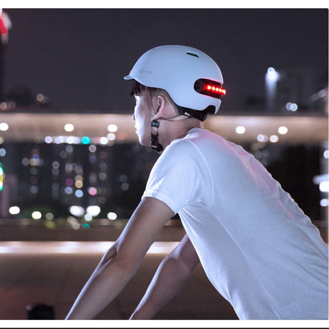 Helmet For Electric Scooter With Back Lights - Scooter